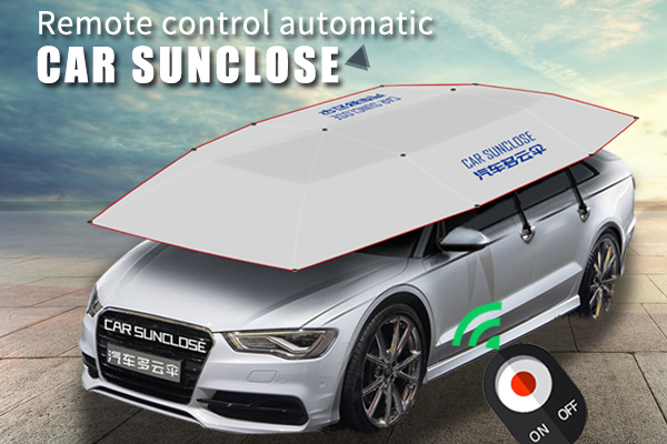 Remote control automatic car sunclose sun protection car umbrella