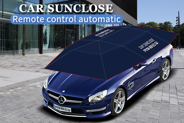 Sun protection folding portable car cover automatic car umbrella shade