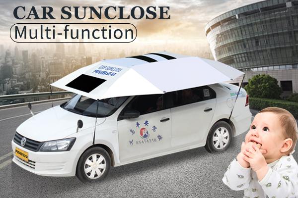Customized front window retractable sun protection car sunshade